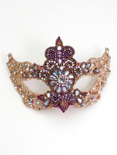 beaded mask | Home / Choose Masks by Feature Colour / Multicoloured Masquerade Masks ...