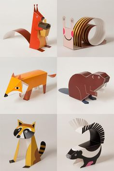 The art of paper folding; Here are a few Origami tutorials, some art works and products influenced by the ancient Diy With Kids, Crafts For Kids, Origami Paper, Diy Paper, Papier Diy, Paper Animals, Origami Animals, Paper Folding, Animal Crafts