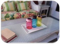 Colored jars with Modge Podge & food coloring