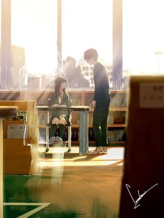 Most Emotional Anime Scenaries Art Manga, Art Anime, Anime Art Girl, Manga Anime, Anime Love Couple, Cute Anime Couples, Bts Art, Tamako Love Story, Graphisches Design