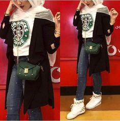 Starbucks tee with hijab-Women's Casual Blazers with hijab – Just Trendy Girls