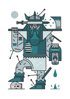 SKÅL ZINE - sam peet illustration