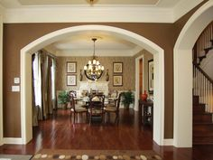 dining room niche: this formal dining room features a recessed