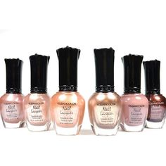 Kleancolor Nail Polish Natural Nude Beige Colors Lot of 6! Lacquer... ($8.59) ❤ liked on Polyvore featuring beauty products, nail care, nail polish, beauty and makeup