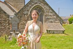 My wedding dress!!!! Based on mediaeval & pre raphaelite paintings, I made it in duchess satin & antique cloth of gold with bullion beading. Flowers by David Austin roses, hair ornament by Rosie weizenkrantz. Wedding at Saint Senara's, zennor, Cornwall, UK, June 21st 2014. Photo by Ross Gamble & c. Imogen Di Sapia  (please re blog with credits) www.saintsenara.com