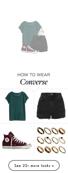 """•Freckles and Constellations•"" by whovian-of-fashion on Polyvore featuring H&M, ASOS, Topshop and Converse"