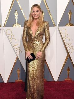 88th Academy Awards Red Carpet extravaganza and glamour - OSCARS 2016 fashion style - Margot Robbie in Tom Ford