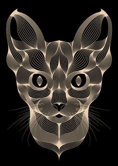 Patrick Seymour - Animal Lines - Fennic Fox