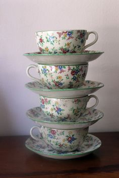 Vintage Cups and Saucers Set