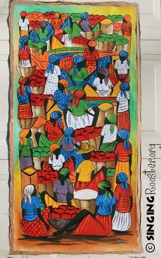 Market scene - Haitian Painting