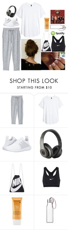 """emily: September 9, 2017"" by disneyfreaks39 ❤ liked on Polyvore featuring MANGO, adidas Originals, Beats by Dr. Dre, NIKE, Lancôme and Eva Solo"
