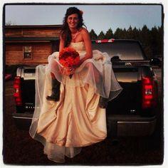 My country wedding. Chevy love! #chevylove #countrywedding