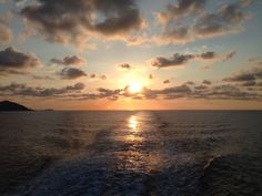 First sunlight, Ibiza