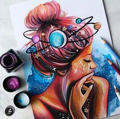 The universe is not outside of you Look inside art_sketches_creative Univers… The universe is not outside of you Look inside art_sketches_creative Universe Pencil Art Drawings, Art Drawings Sketches, Cute Drawings, Drawings Of Girls, Heart Drawings, Unique Drawings, Colorful Drawings, Art Mignon, Arte Sketchbook