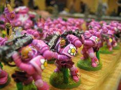 Cute, Happy, Pink, Space Marines