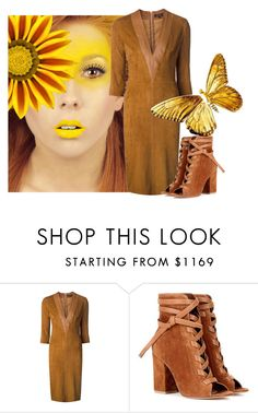 """""""🌻sunflower🌻"""" by katleenm ❤ liked on Polyvore featuring Jitrois and Gianvito Rossi"""