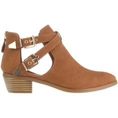 SPURR Hillary Cut-out Ankle Boots