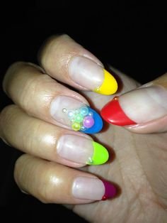 Bubble nail art @Cherry Ocampo