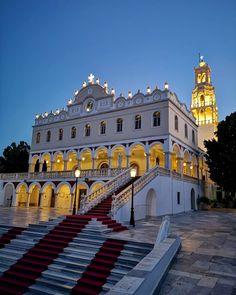 The church of Panagia Evagelistria in Tinos island, Cyclades, Greece Christian Calendar, Greece Photography, Son Of God, Jesus Christ, Island, Explore, Mansions, Country, House Styles