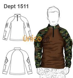 POLERON BUZO PAINT BALL Y OTROS HOMBRE Sewing Men, Sewing Clothes, Tactical Suit, Shirt Makeover, Clothing Sketches, Casual Wear For Men, Jacket Pattern, Suit And Tie, Clothing Patterns