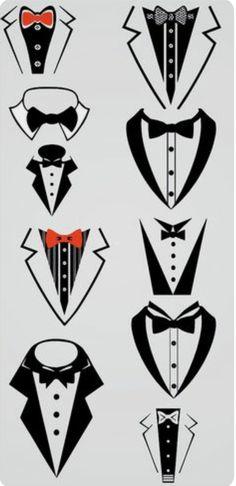 Items similar to Boys Tuxedo Bib - Formal photo prop on Etsy Silhouette Cameo Projects, Silhouette Studio, Tuxedo Bow Tie, Boys Tuxedo, Printable Stickers, Vinyl Projects, Vector Art, Etsy, Stencils