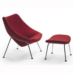 OYSTER CHAIR AND FOOTSTOOL