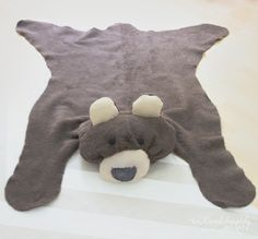 We Lived Happily Ever After: Make your own Bear Rug for $6