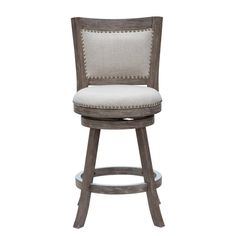Make a statement with the Melrose Barstool. Accentuated with the attractive multistep wire-brush finish, soft linen upholstery and genuine brass nail head...