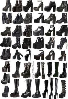 Egirl Fashion, Fashion Terms, Kpop Fashion Outfits, Gothic Fashion, Steampunk Fashion, Fashion Styles, Gothic Outfits, Edgy Outfits, Grunge Outfits
