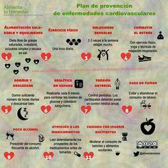 Plan de prevención de enfermedades cardiovasculares #infografía #alimentatubienestar