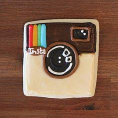 Instagram App Cookie - Social Media - iOS-App-Icon-Cookies-Instagram - Found on Garrett Gee - Brown, Multi, Square