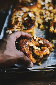 caramelized apple and coconut sticky buns
