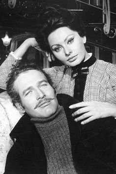 Sophia Loren with Paul Newman