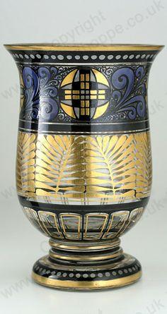 VINTAGE c.1920s HERMANN PAUTSCH HAIDA ENAMELLED GLASS VASE. This item is sold…