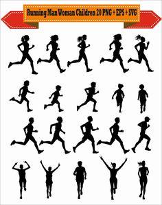 Running Drawing, Running Art, Girl Running, Running Women, Running Images, Scrapbook Supplies, Scrapbooking Layouts, Running Clipart, Clipart Png