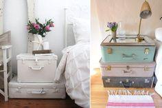 Las maletas vintage, ideales como elementos decorativos