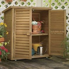 IKEA Storage Cabinet simple DIY wood outdoor storage cabinets ...