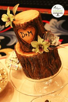 Omg! When my boyfriend proposed to me the first time, several years ago, he carved it in a tree! He also carved our initials in another one! Cute for an engagement party!