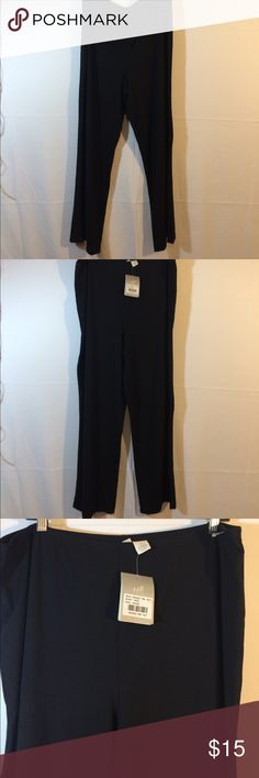 J Jill NWOT black jersey knit pants XL Soft rayon and spandex elastic waist palazzo pants.  Super comfy and stylish. Throw them on with a pair of flats or sandals and cute floral print top and you are out the door.  New with tags J. Jill Pants Wide Leg