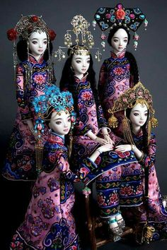 Marina Bychkova - Russian-Canadian figurative artist and doll maker, Founder of Enchanted Doll™ Ooak Dolls, Barbie Dolls, Memes Arte, Marina Bychkova, Oriental, Enchanted Doll, Asian Doll, Arte Popular, Doll Maker