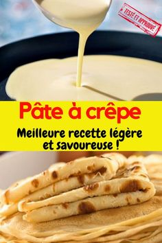Crepe dough: best recipe easy, fast and light! Mousse Dessert, Banana Pudding Recipes, Crepe Recipes, Pasta, Hot Dog Buns, Sandwiches, Good Food, Brunch, Food And Drink