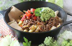 Crockpot Carne Asada Loaded Fries |