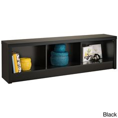 Available in stylish shades of black or espresso, this cubbyhole storage bench helps you keep organized with its three generous compartments. Use it to store shoes in your entranceway or blankets in your bedroom, or to display ornaments.