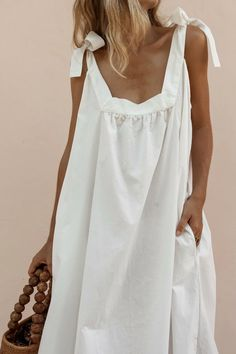 Khaki Dress, White Maxi Dresses, White Dress, Linen Dresses, Beach Dresses, Collar Styles, Casual Dresses For Women, Chic Outfits, Summer Outfits