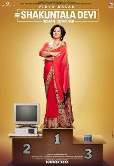 Vidya Balan next movie updates - first-look poster of Vidya Balan's upcoming film, Shakuntala Devi, has been released. The poster shows Vidya Balan as Shakuntala Devi, the human computer, Popular Movies, Good Movies, Shakuntala Devi, Sanya Malhotra, Randeep Hooda, Anurag Basu, Human Computer, Sanjay Leela Bhansali, Movies