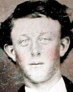 From a photo of Dan Dedrick, Billy the Kid's best friend. Unknown person, probably, Billy the Kid Bill The Kid, William H Bonney, Billy Kid, Life In Usa, Westerns, Old West Photos, Light Blue Eyes, Julie Christie, Famous Graves