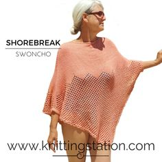 Knitting Pattern Live Wire, Swimming Costume, Poncho Sweater, Sweater Design, Needles Sizes, Hemline, Knitting Patterns, Cover Up, Trending Outfits