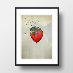 "A4 Artprint ""Red Balloon"" in Urban Art & Drucke"