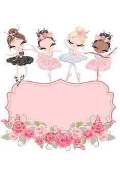 Baby Clip Art, Baby Art, Bff Drawings, Cartoon Drawings, Ballet Posters, Ballerina Art, Flowery Wallpaper, Cute Frames, Cute Dragons