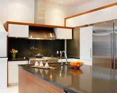 Intriguing Hillside House Design; Best Kitchen Interior: Minimalist Design Forest Hill Contemporary Kitchen Metal Chimny
